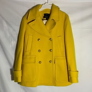 Yellow J.Crew stadium Cloth Peacoat